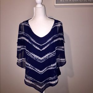 Dress Barn Flowy Blue Top